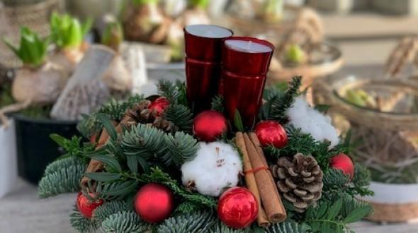 Workshop Kerststukje maken in 't Warnshuus